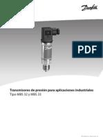 transmisor danfoss mbs33