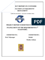 A Project Report on Customer