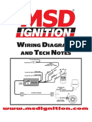 MSD IGNITION Wiring Diagrams and Tech Notes | Distributor ... on