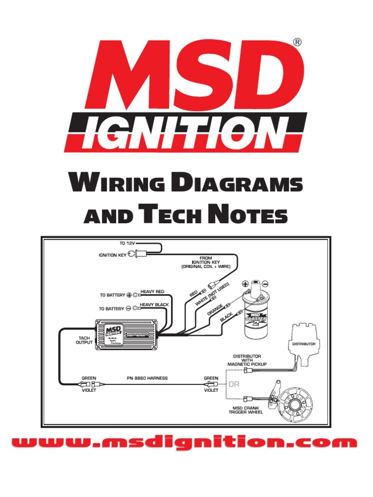 msd ignition wiring diagrams and tech notes distributor ignition rh es scribd com