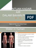 Penentuan Kadar Air Dalam Bahan Pangan