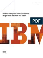 Business Intelligence for Business Users - Insight When & Where You Need It
