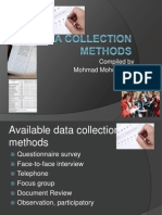 Lecture 3 - Data Collection Methods1