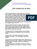 UN CORAZÓN CONVERTIDO EN NIDO