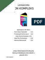 Laporan Ion Kompleks