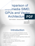 Comparison of Multimedia SIMD, GPUs and Vector