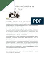 Reseña Histórica comparativa de las leyes 1420 y 26206