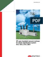 Catalogo Recloser Gas SF6