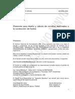 NCH 0283 OF1968 - PRESION PARA DISEÑO Y CALCULO DE FLUIDOS