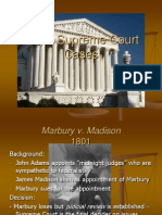 Major Supreme Court Cases