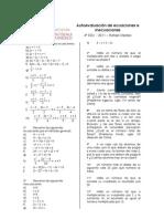 Autoevaluación de ecuaciones e inecuaciones 4º