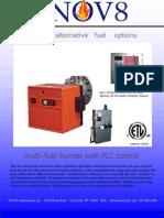Dual fuel Waste Vegetable Oil Burner Brochure