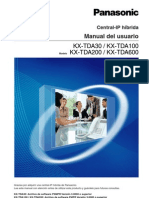 PBX Panasonic KX-TDA100 User Manual