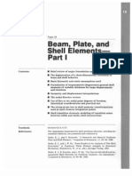 Beam, Shell and Plates