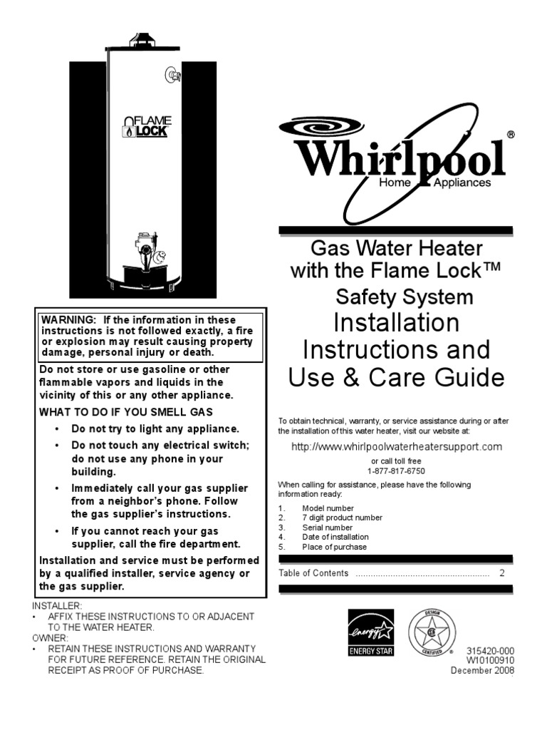 whirlpool water heater serial number year
