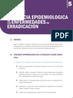 Vigilancia epidemiológica de enfermedades en erradicación