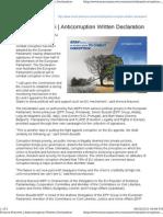 Anti Corruption Written Declaration