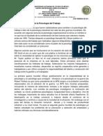Evolución Histórica de la Psicología del Trabajo