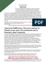 Chevron Romania Exploration and Production Srl Operates in United Kingdom.