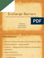Exchange Barriers
