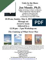 May 6, 2012 - Jon Mundy, Ph.D.