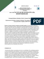Martins & Santos - Técnicas usuais de estimativa da biodiversidade