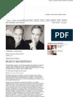 Busco mi destino » Entrevistas » Revista Paula