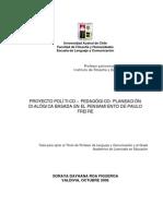 Proyecto Polit - Ped.basado en Paulo Freire. Lavin Sonia