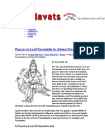 Sani Oraciones a Sri Nrisimhadeva