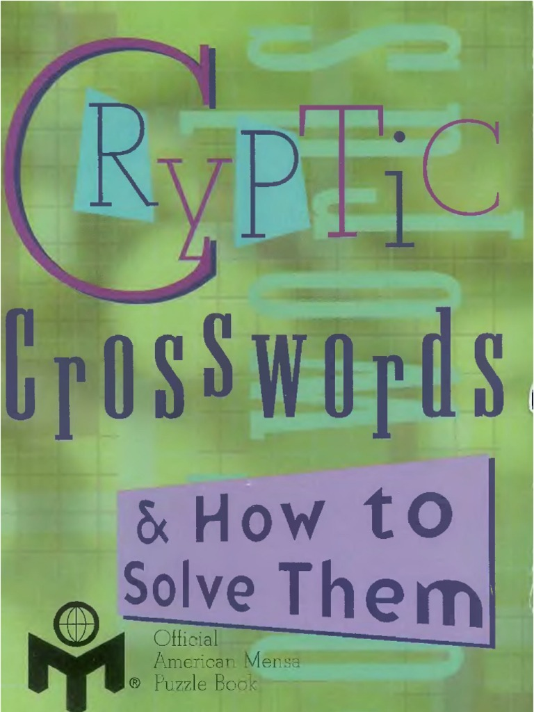 Cryptic crosswords how to solve them biocorpaavc Image collections