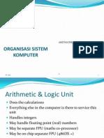Perkuliahan 8 - Organisasi Sistem Komputer - Aritmatika Komputer