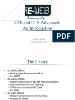 Long Term Evolution -LTE- & Introduction to LTE Advanced