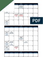 Calendario - Mayo, Junio y Julio 2012