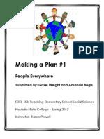EDEL453 Spring 2012 AmandaREGIS Civics Unit Planner 1