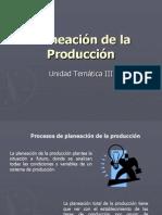 Planeación de la Producción Tema III