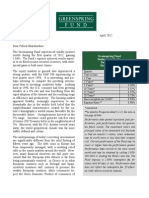 Green Spring Fund Letter 1Q2012