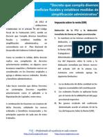 Circular Beneficios Fiscales Abril 2012