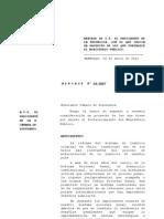 MENSAJE DE S.E. EL PRESIDENTE DE LA REPÚBLICA, CON EL QUE INICIA UN PROYECTO DE LEY QUE FORTALECE EL MINISTERIO PÚBLICO