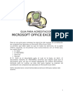 Guia Para Acreditacion en Office Excel