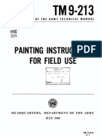 ARMY TM 9-213 Painting Instructions for Field Use 1965