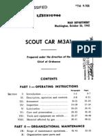 Army Tm 9-705 Scout Car 1942