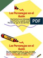 Los Personajes en El Guion