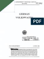 ARMY TM E9-803 German Volkswagen Jun44