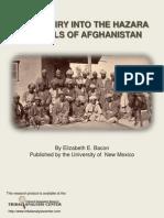 Hazara Mongols of Afghanistan
