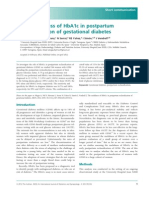 The Usefulness of HbA1c in Postpartum Reclassification of Gestational Diabetes