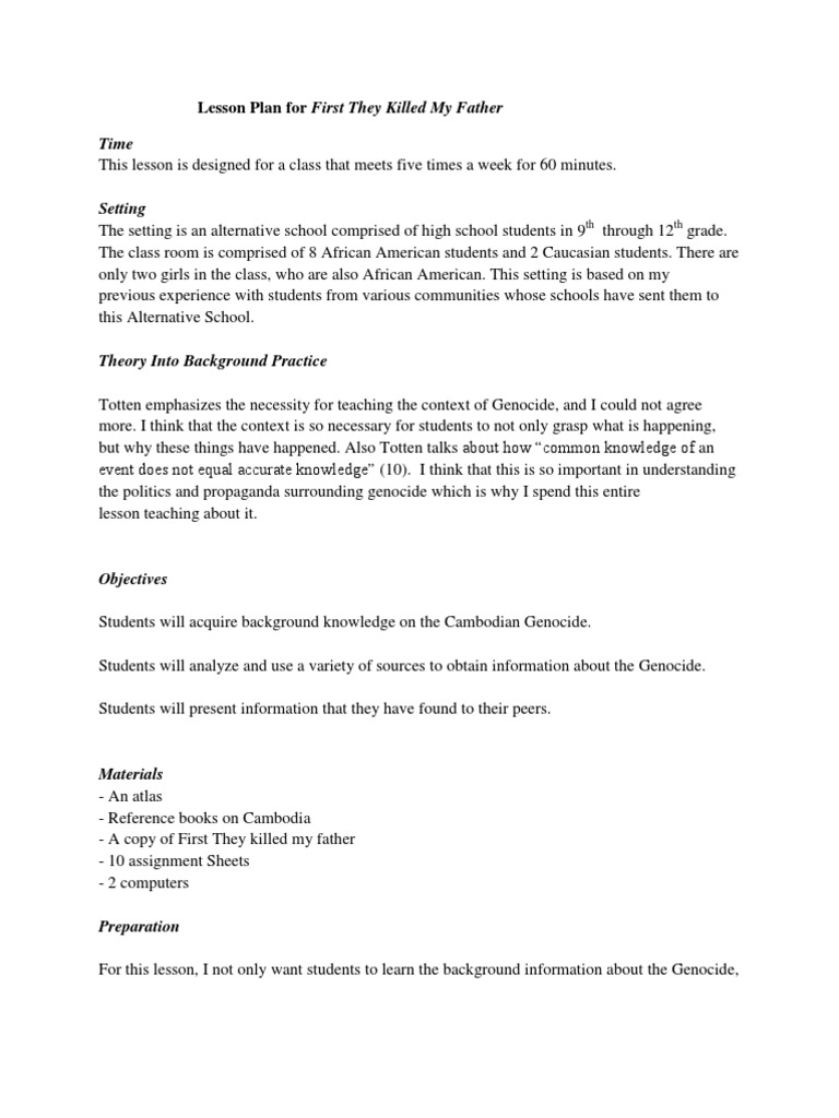 cambodian genocide research paper outline