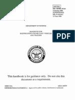 USDOD MIL-HDBK-46164 Handbook for Rustproofing Vehicles Jun83
