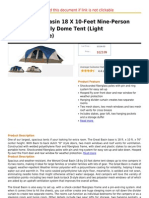 Wenzel Great Basin 18 X 10-Feet Nine-Person Two-Room Family Dome Tent (Light Grey Blue Taupe)