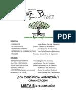 PROPUESTA LISTA B FEUCSC 2012