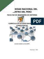 Curricula Estudios basado en competencias de la Facultad de Ingeniería de Sistemas 2011 UNCP Huancayo